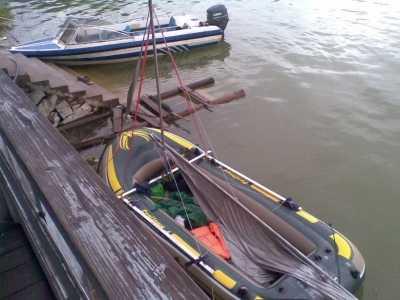 翠屏湖自制橡皮艇帆船漂流三天 动物橡皮艇