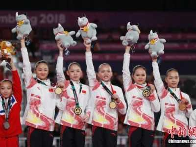 中国小花165.250分获得冠军 体操女团决赛