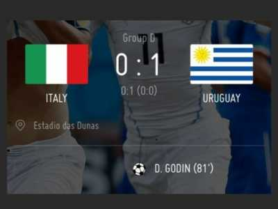 意大利0 意大利0-1乌拉圭